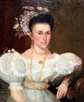 Wedding portrait of Mrs. Alexander Gallatin McNutt (c1838) at Old Court House Museum. Vicksburg, MS.