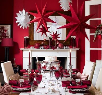 Merry Christmas: Christmas Dinners, Dining Rooms, Red And White, Decor Ideas, Christmas Tables, White Christmas, Holidays Decor, Red Christmas, Christmas Decor