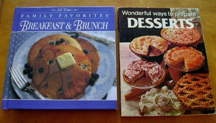 Breakfast Brunch and desserts lot two vintage modern cookbooks
