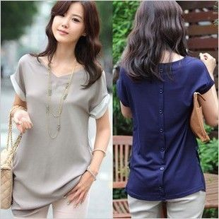 A nice casual top. Love the buttons in the back. Fashion sweater t shirts-inBlouses & Shirts from Apparel & Accessories on Aliexpress.com