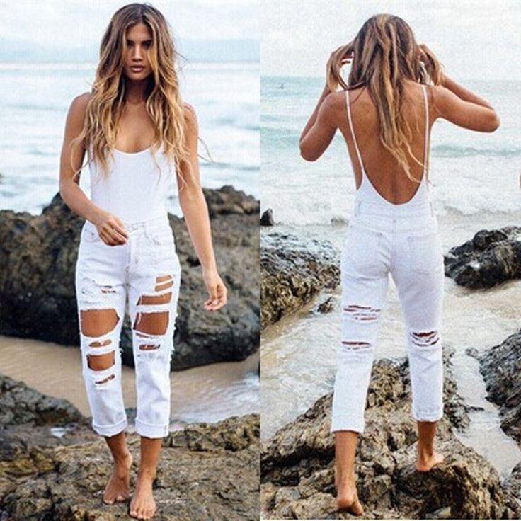 Calça Jeans Branca Femme Skinny