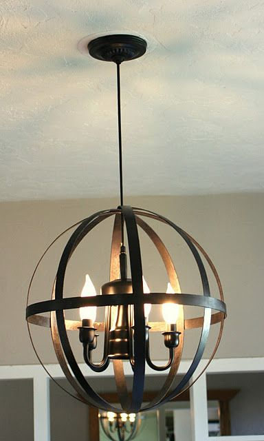 diy light fixture...I literally just saw a light just like this at Lowes and wanted it so bad!!
