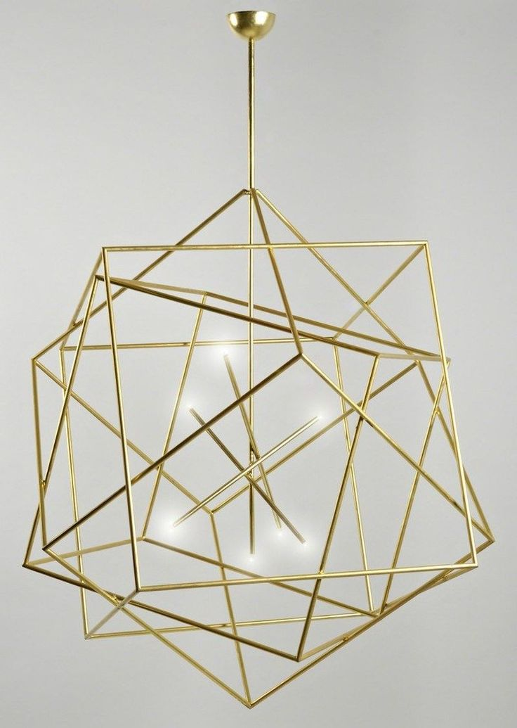 geometric gold chandelier