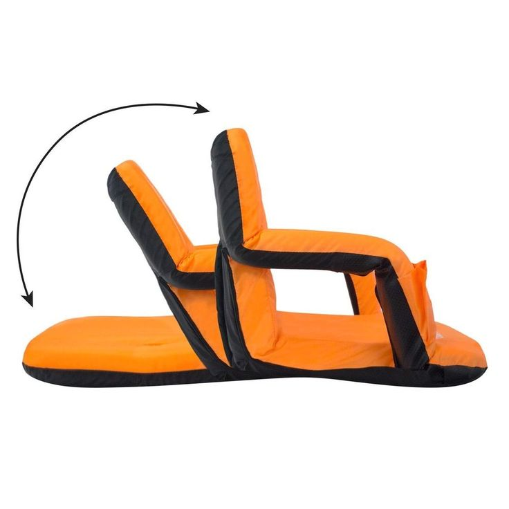 Chair Stadium Seat Reclining Bleacher Driftsun Folding Back Sport Arm Cover  sc 1 st  Pinterest : reclining stadium seat - islam-shia.org