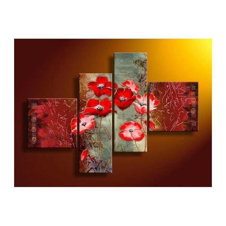 3 Piece Purple Cherry Blossom Muti Panel Abstract Modern: 20 Best Images About Tableaux Fleurs On Pinterest