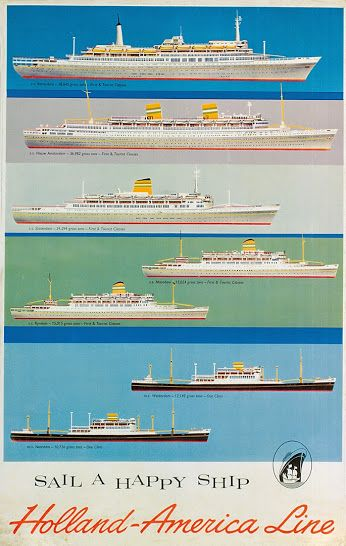 We're celebrating HAL history with this vintage Holland America Line poster! Google+