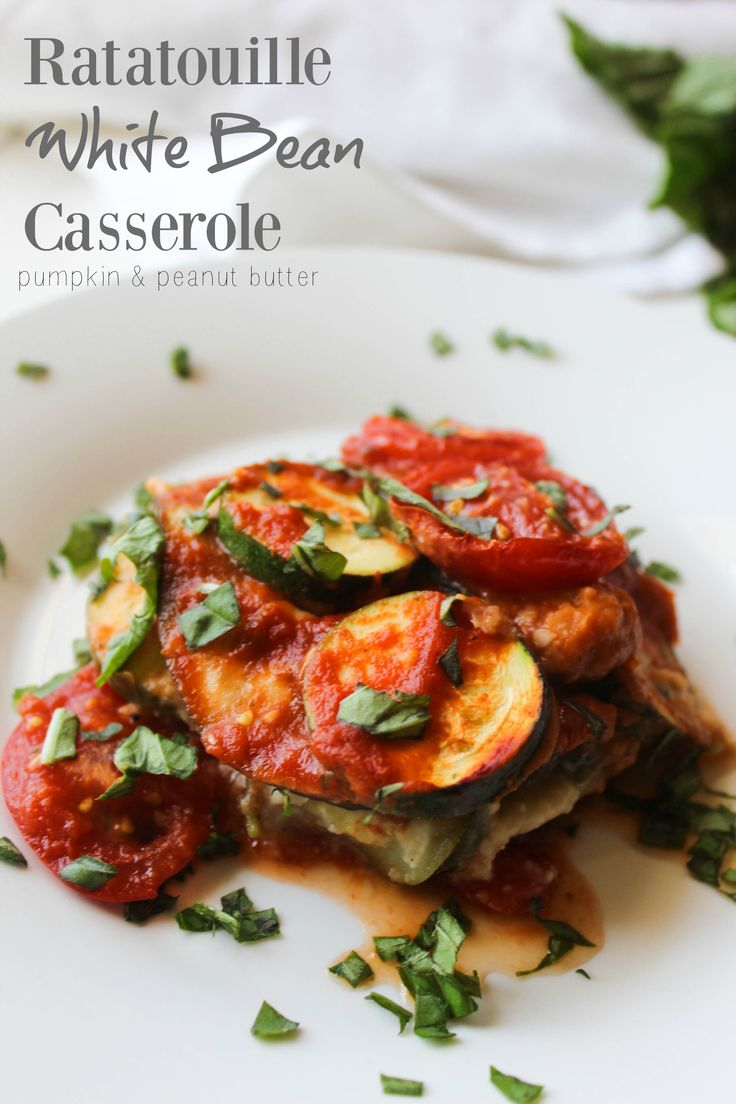 This Ratatouille White Bean Casserole is a rustic take on the classic ...