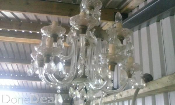 Nice crystal chandelier working perfect