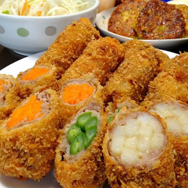 バッター液を使うので、冷めてもカリッとしてマス♪♪ウチではお肉は薄ーく、野菜は多く!が人気ですw☆ - 236件のもぐもぐ - 豚肉のロールカツです。お好きなお野菜をたっぷり巻いて♪短時間でさっくり!揚げます☆ by yumyumy1