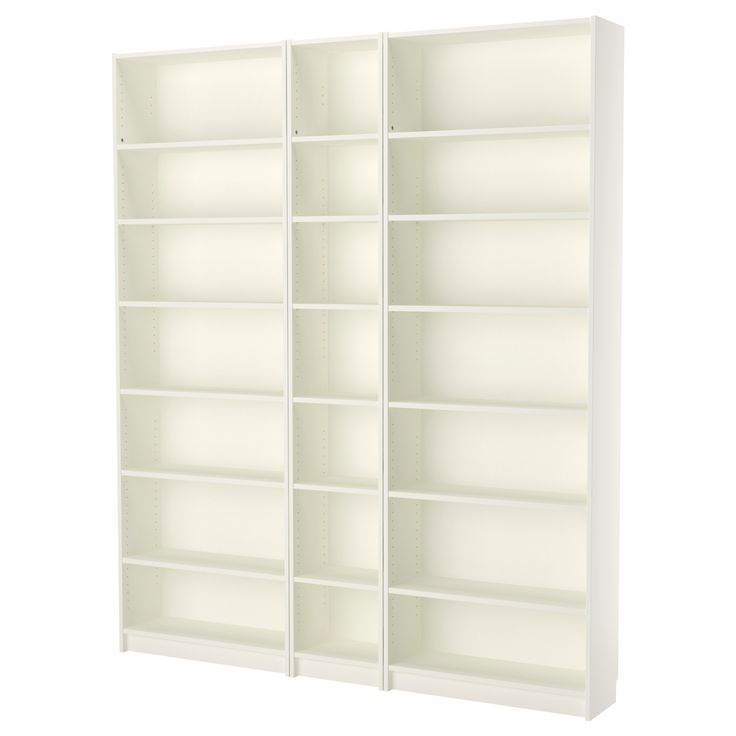 """Stack on top of wall cabinets~Built ins beside fireplace~BILLY Bookcase - white, 78 3/4x93 1/4x11 """" - IKEA"""