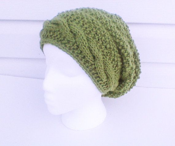 Hey, I found this really awesome Etsy listing at https://www.etsy.com/listing/197218733/forest-green-beehive-beanie-with-cable