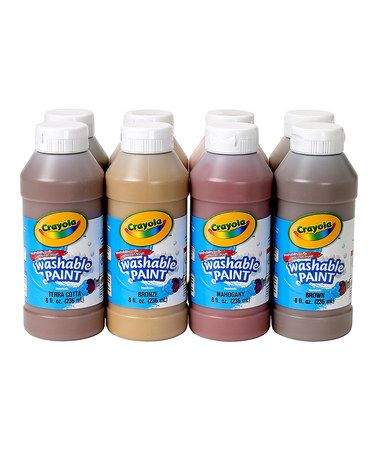 Another great find on #zulily! 8-Oz. Multicultural Washable Paint - Set of Eight by Crayola #zulilyfinds