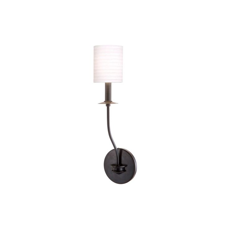 Hudson Valley Sheffield Wall Sconce (Old Bronze, Off White), Brown (Metal)