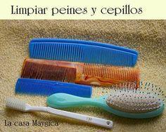 Limpiar peines y cepillos