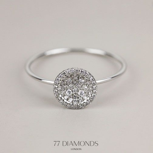 With its dome of diamonds this chic Coupette ring is the perfect accessory.