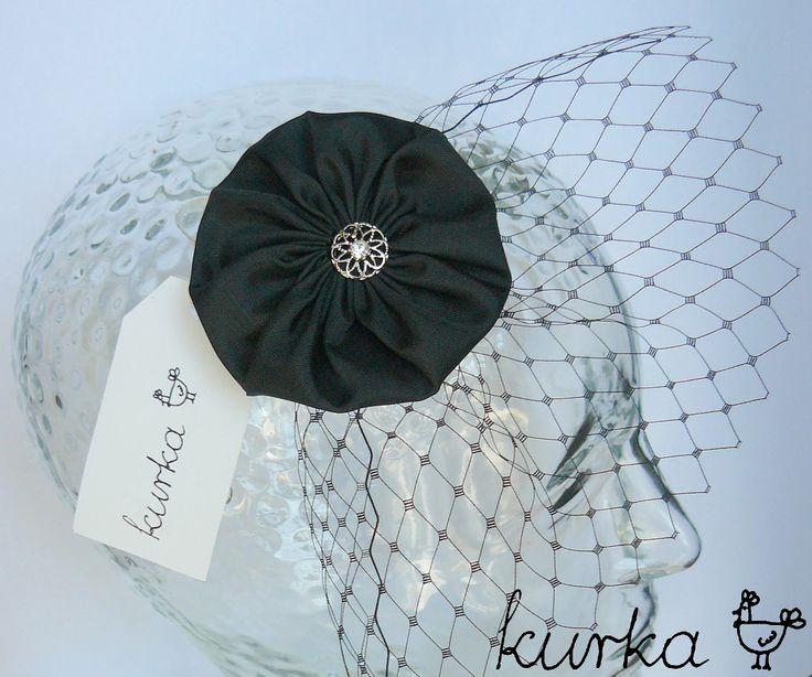woalka stroik - kolor czarny