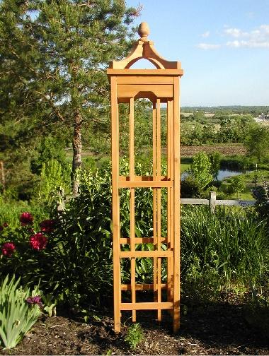 222 best wooden garden obelisks images on pinterest for Wood garden trellis designs