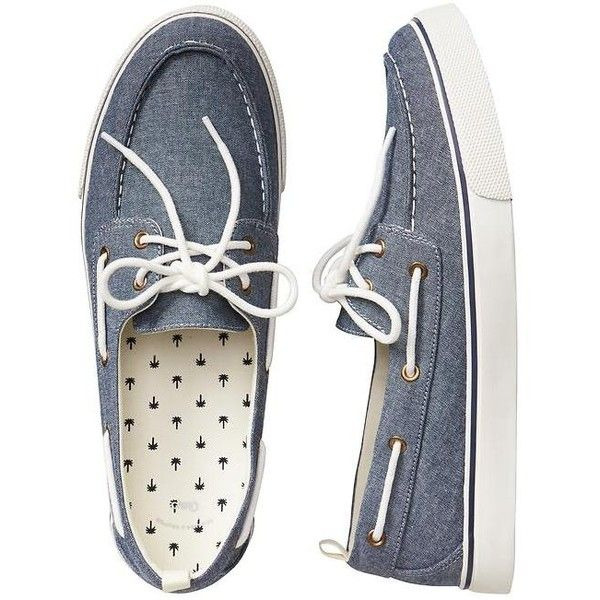 Gap Men Factory Boat Shoes ($18) ❤ liked on Polyvore featuring men's fashion, men's shoes, gap mens shoes, mens slipon shoes, mens topsiders, mens boat shoes and mens sperry topsiders