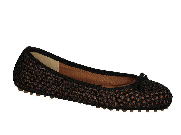 Car Shoe flat ballerinas in black Straw - Italian Boutique €127