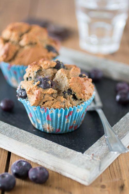 Blauwe bessen muffins