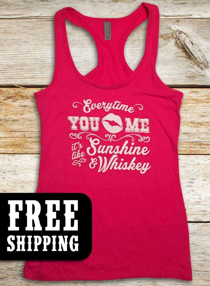 Sunshine & Whiskey, Country Tank, Country TShirt, Country top, Country Music T-Shirt, Southern Girl, Luke Bryan, Tim Mcgraw FREE SHIPPING by CountryTease on Etsy https://www.etsy.com/listing/222047061/sunshine-whiskey-country-tank-country