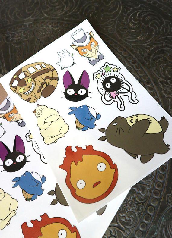 Studio Ghibli A5 Temporary Tattoo Sheet