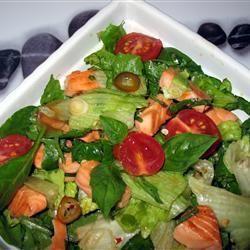 Zalmsalade met Thaise saus @ allrecipes.nl
