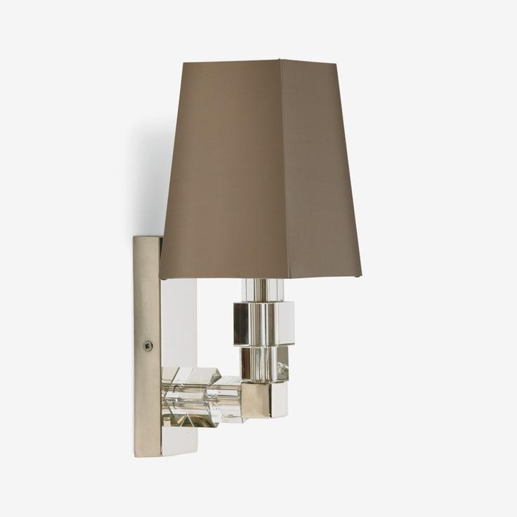 Wall Lights Europe : Porta Romana - TWL75, Lartigue Wall Light, Baby - Clear with Nickel lighting Pinterest ...