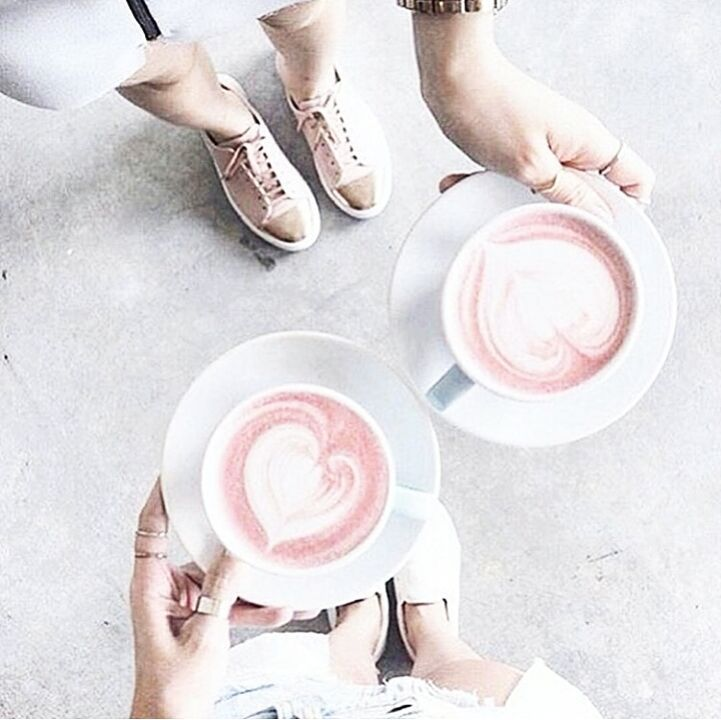 Best remedy for Mondayitis? Pretty Pink Lattes!  . Did you know it's World Kindness Day today?  . Lets make an effort today to spread a little kindness.  . It might be as simple as smiling at a shop assistant saying 'thankyou' and making eye contact or letting someone in front of you in traffic.... You never know how much it can mean to someone!