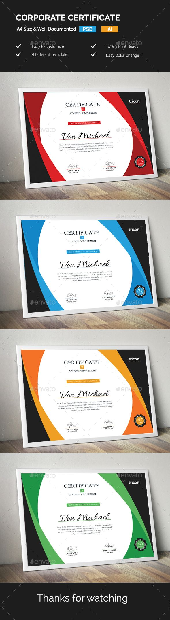 #Certificate - #Certificates #Stationery Download here: https://graphicriver.net/item/certificate/19191699?ref=alena994