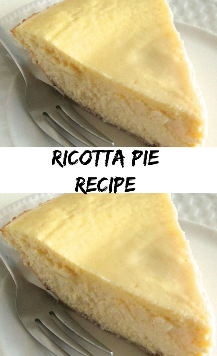 Ricotta Pie Recipe