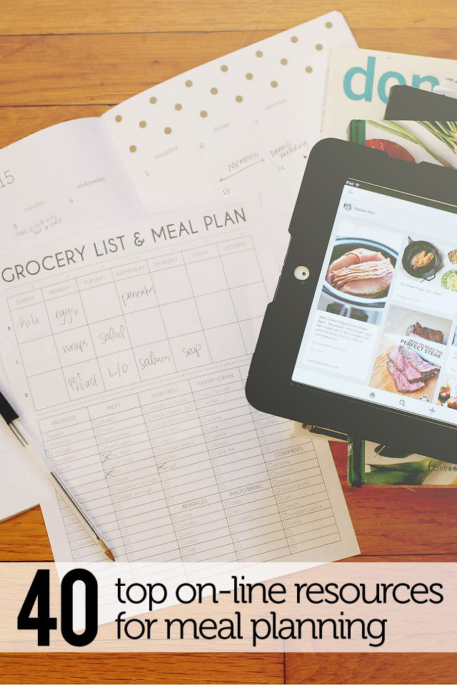 40 Super Helpful Meal Planning resources, Top online Resources