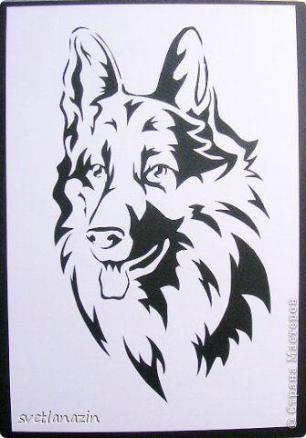 Картина, панно, рисунок Вырезание: Навырезалось... Собаки Бумага. Фото 3