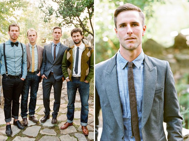 : Casual Grooms, Grooms Style, Idea, Bows Ties, Smart Casual, Skinny Ties, Men Fashion, Bridal Parties, Mismatched Groomsmen