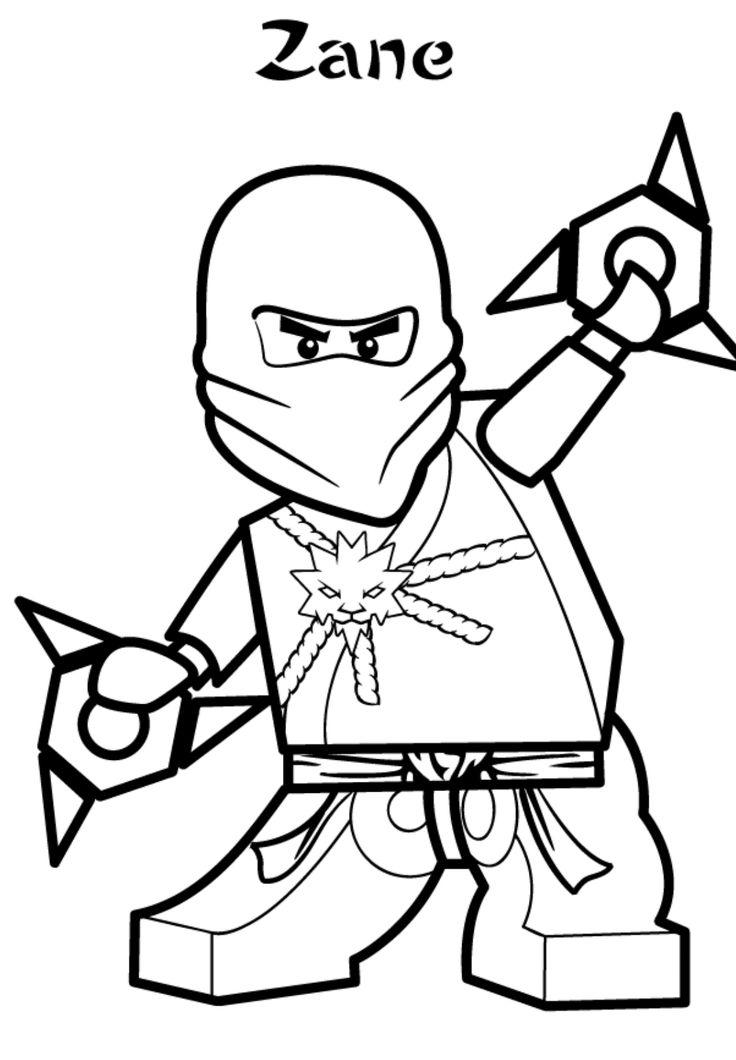 ausmalbilder ninjago zane
