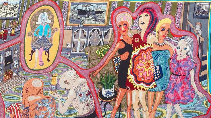 Grayson Perry, 'The Adoration of the Cage Fighters', 2012 (detail). Photo: © Stephen White. http://www.liverpoolmuseums.org.uk/graysonperry/