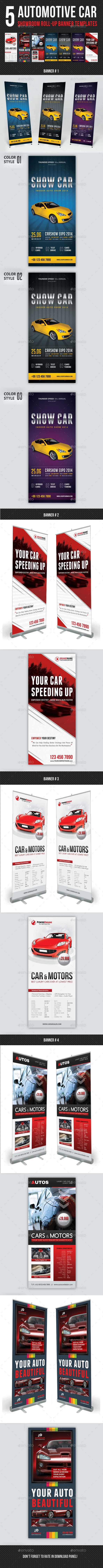 5 High impact Roll-Up Banner Template Layouts, perfect for business advertisement or product promotion! Save your time and money a