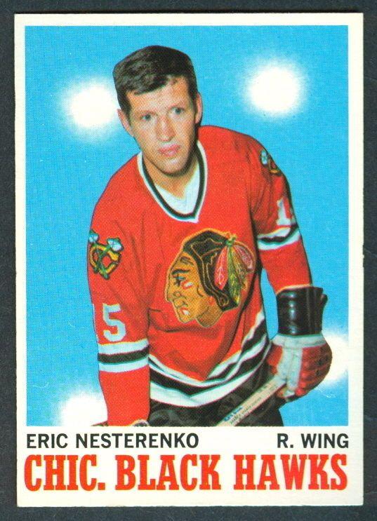 1970 71 TOPPS HOCKEY 19 ERIC NESTERENKO NM CHICAGO BLACK HAWKS