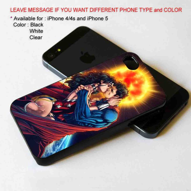 Superman and Wonder Woman. The Kiss iPhone 5