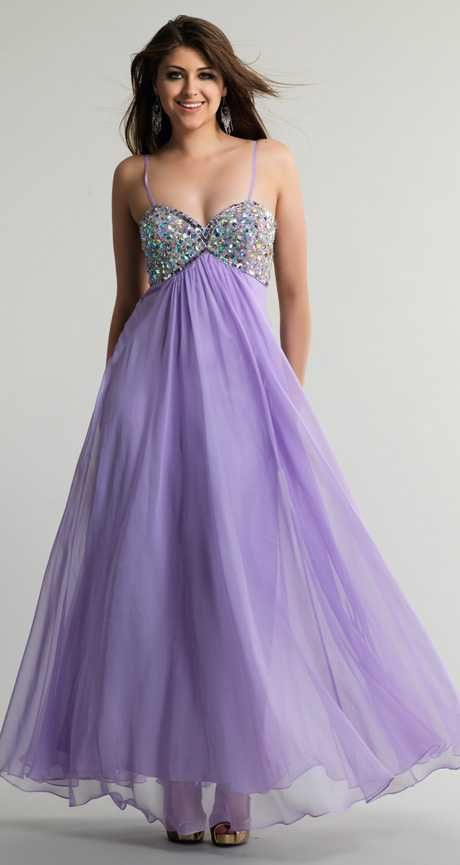 Dave and Johnny 10210 Lilac Beaded Empire Prom Dresses Cheap