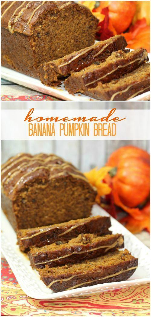 Sub With Skim Milk Banana Pumpkin Bread Recipe Homemade Fall Pumpkin Recipe For Thanksgiving Or Christmas