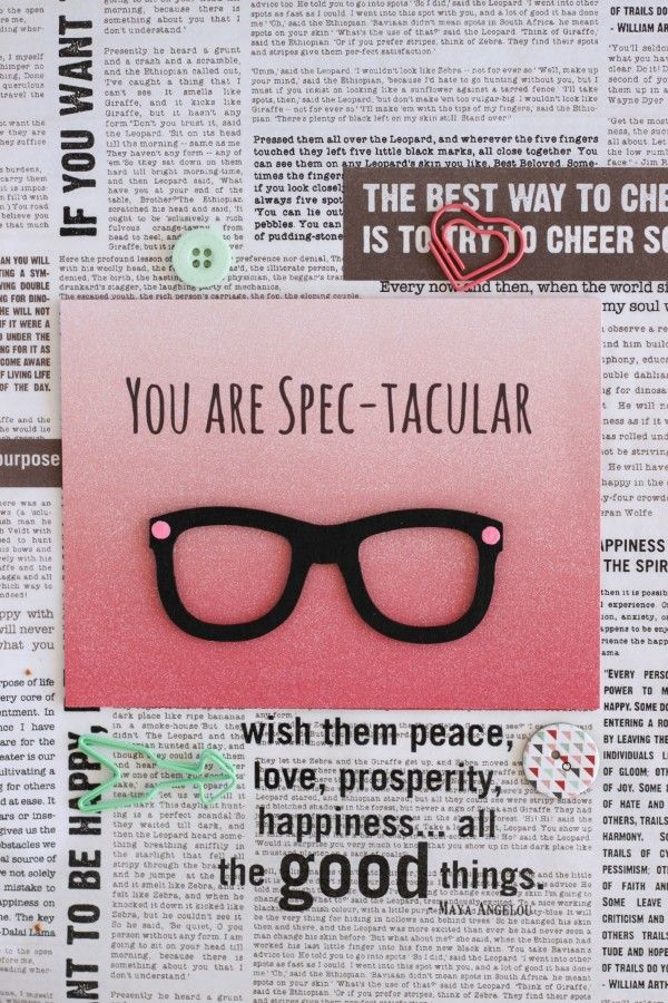 You Are Spec-tacular Card - DIY cheesy pun Valentine's Day Card #freeprintable
