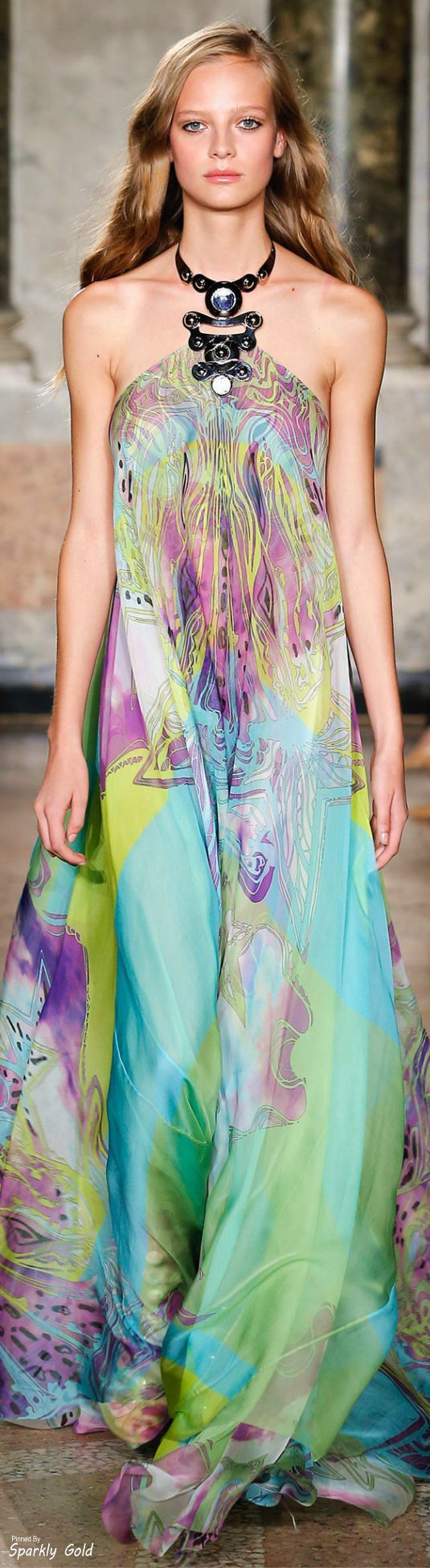Emilio Pucci Spring 2015 Maxi Dress Pinterest