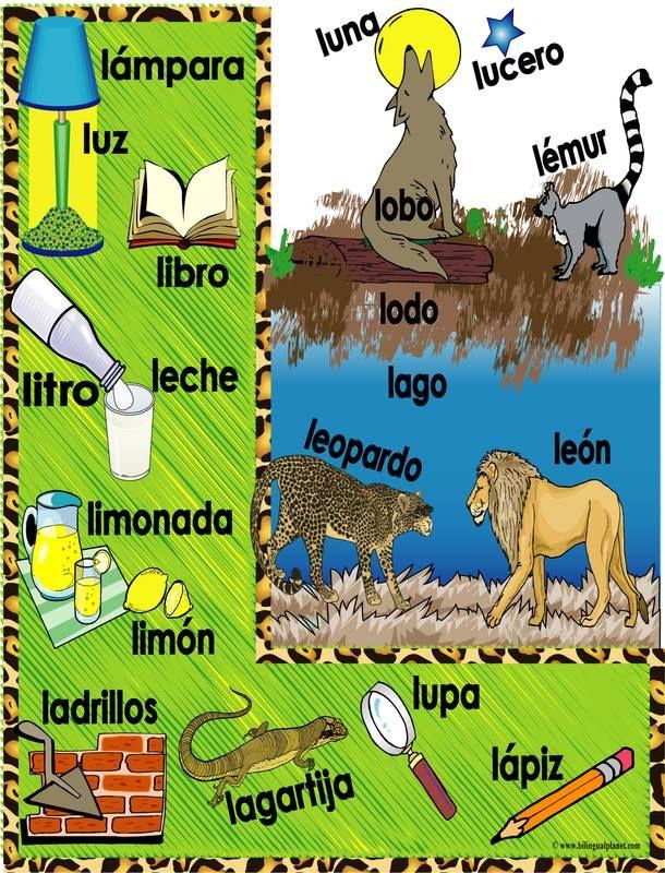 Spaanse woorden die beginnen met l