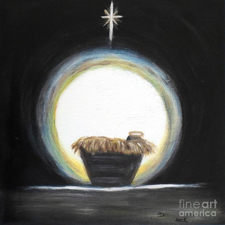 Christmas Nativity by Diane Wigstone - Christmas Nativity Painting ...