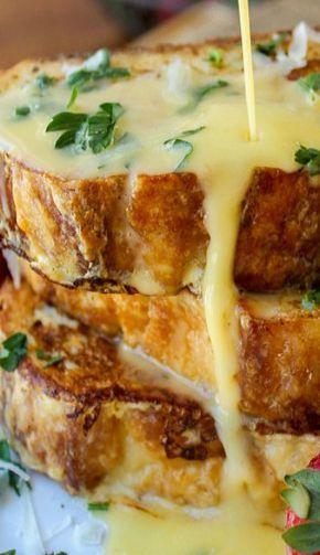 Frühstück im Himmel: Parmesan-French-Toast mit Hollandaise