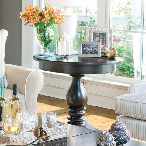 Paula Deen Round Side Table Linen Finish Is A Part Of Paula Deen Furniture  Collection. Available At Knight Furniture Showrooms In Florence, SC.