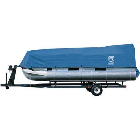 Classic Accessories 17' - 24' Stellex Pontoon Boat Storage Cover, Blue