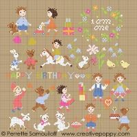 Perrette Samouiloff - Baby is one (cross stitch) - via http://bit.ly/epinner