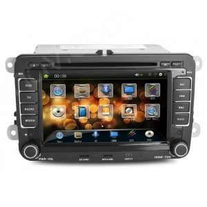 Volkswagen DVD Player GPS Navigation VW Double Din Head unit with Bluetooth - US$296